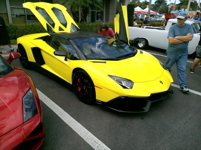 Classic Yellow Lamborghini Cool Cruisers